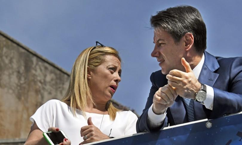 Giorgia Meloni Premier e l'incognita Conte